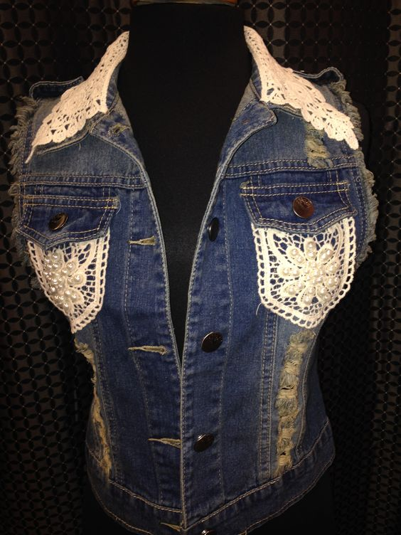 lace sleeveless denim jacket Shop Shabby Shack Vintage Denim in Courtyard Antiques in the Mason Antiques District. 208 Mason Street. Mason, MI 48854 Open 7 Days. 10 - 6. (517) 676-6388