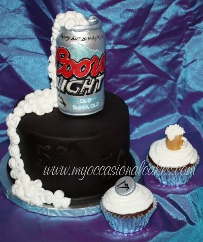 Coors Light(R) cake & cupcakes By MyOccasionalCakes on CakeCentral.com