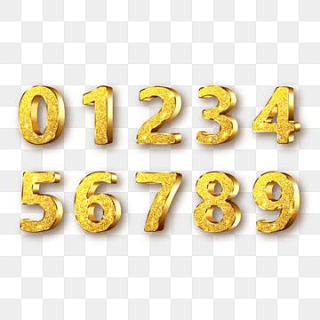 Golden Metal Numbers Realistic With S Gold Clipart Number Metal Png And Vector With Transparent Background For Free Download Metal Numbers Gold Clipart Number Vector
