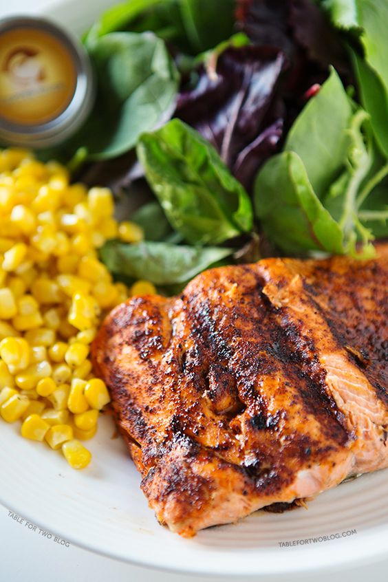 Grilled Coho Salmon | tablefortwoblog.com: Weeknight Meal, Healthy Dinner, Light