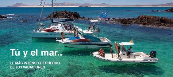 Nuestra flota a tu disposición para surcar las aguas de #Fuerteventura e Isla de Lobos