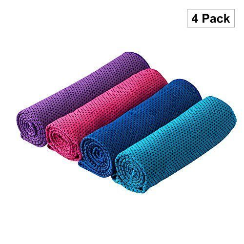 Cooling Towel Neck Coolers Ice Instant Chill Workout 4pack Head