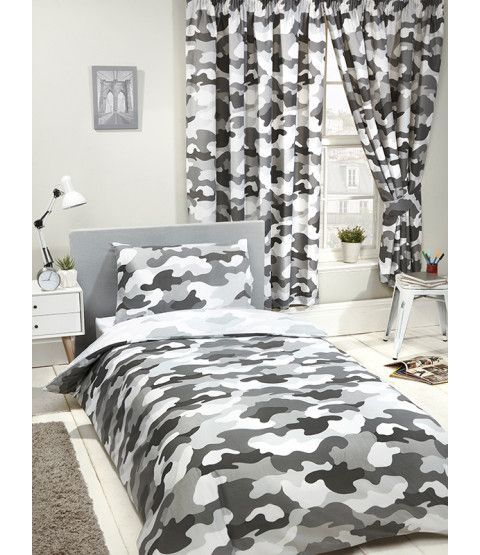 Grey Army Camouflage Bedroom Single Duvet Cover Single Duvet Double Duvet Covers