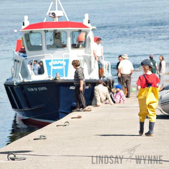 Little Boy Boarding the Staffa Ferry. $25.00, via Etsy. by Lindsay Wynne Photography