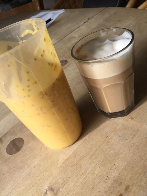 Coffee time mango-bananen smoothie