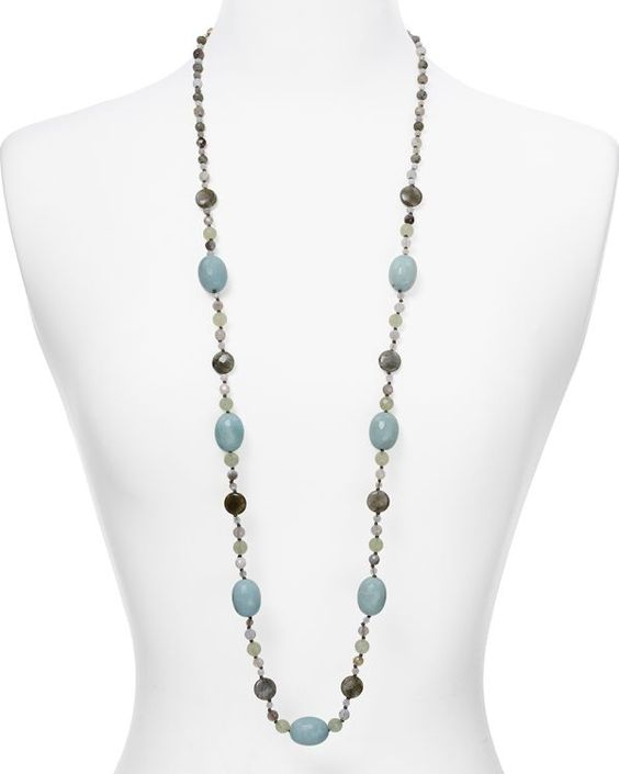 """Chan Luu Agate Beaded Necklace, 41""""                              …"""