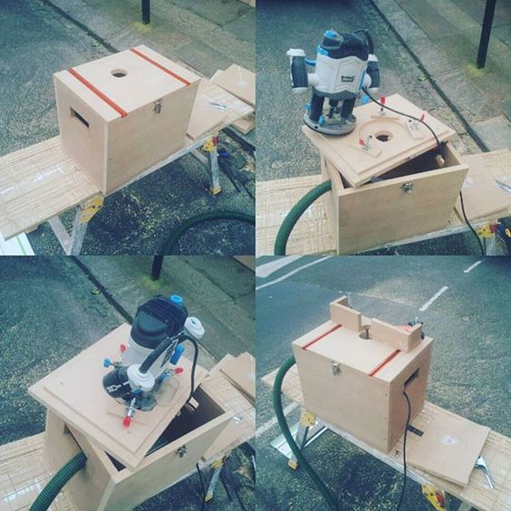 Decided to make the router table ive been planning for a week. Same size as a festool systainer. Tog - therbckid