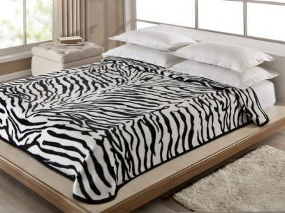 Cobertor Casal Corttex Zebra - 1 Peça com as melhores condições você encontra no Magazine Vemdecorar. Confira!