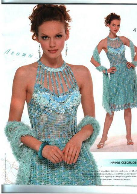 Russian Crochet Tea Dress