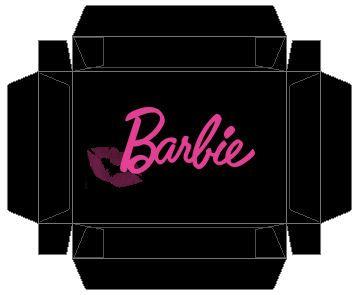 Barbie doll box template