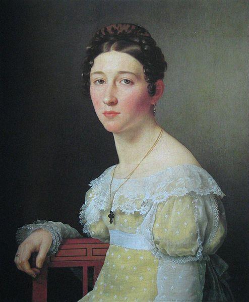 painter:Christoffer Wilhelm Eckersberg, Portrett af Emilie Henriette Massmann.jpg 1820 from National Gallery of Denmark Statens Museum for Kunst