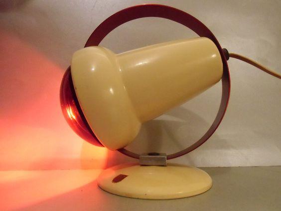 Philips rotlicht lampe charlotte perriand von mad tt auf vintag - Lampe charlotte perriand ...