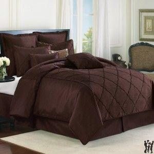 Veratex Diamonte 4-piece Comforter Set - Chocolate