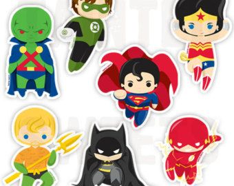 Boston Terrier Justice League Magnet Set by rubenacker on Etsy