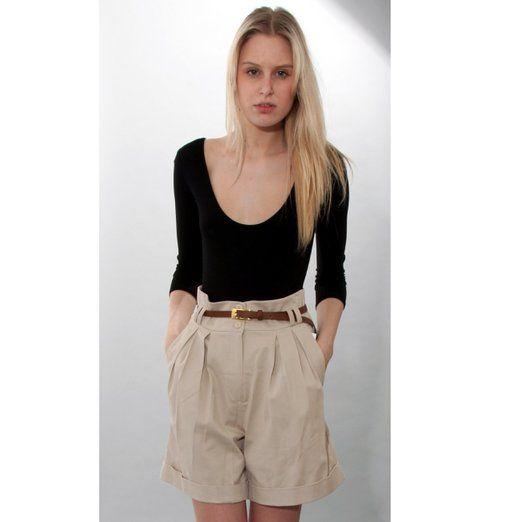 Ladies Beige Shorts
