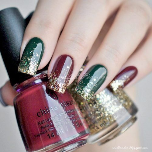 36 Cool Shimmering Christmas Nails
