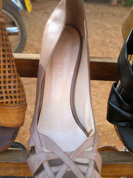 Pair of Witchery heels found on the side of the road in Kampala.