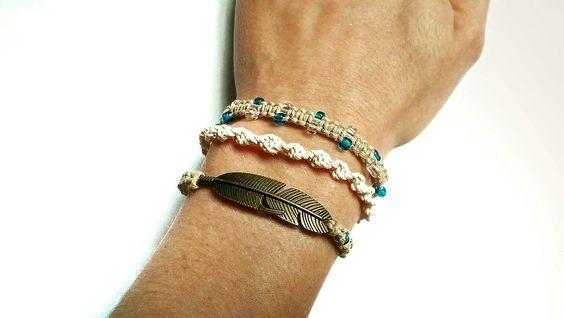 Tressé Boho Wrap Bracelet - Bracelet Wrap - Wrap tressé Bracelet - Bracelet tressé - Boho Bracelet - Bracelet de chanvre - Boho Wrap Bracelet par JustJuliery sur Etsy https://www.etsy.com/fr/listing/254341170/tresse-boho-wrap-bracelet-bracelet-wrap
