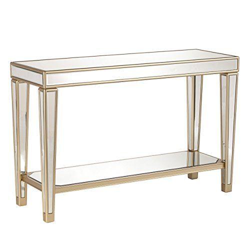 Furniture Hotspot Mirrored Console Table Mirror W Champagne