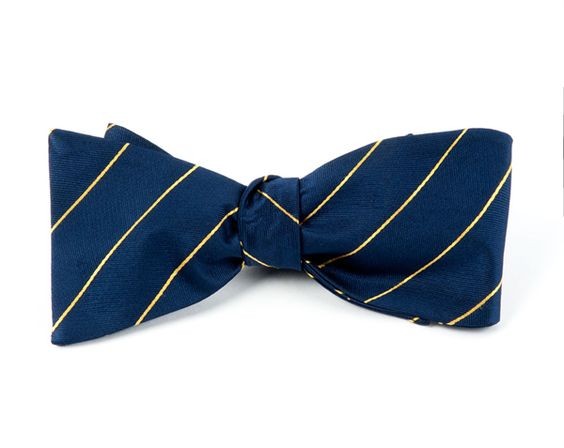 PENCIL PINSTRIPE BOW TIES - NAVY   Ties, Bow Ties, and Pocket Squares   The Tie Bar