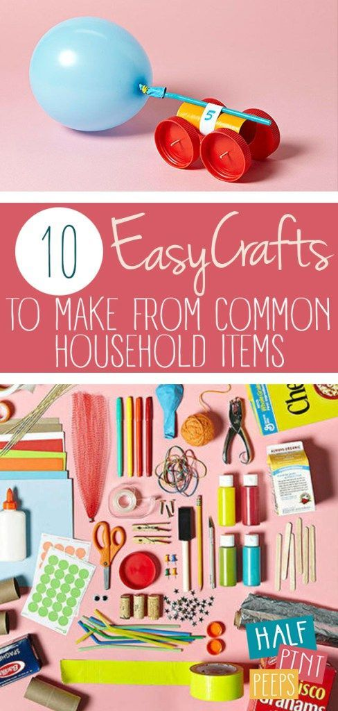 10 Easy Crafts To Make From Common Household Items Easy Crafts Keep Your Kids Busy They Also In Easy Crafts To Make Easy Toddler Crafts Diy Crafts How To Make