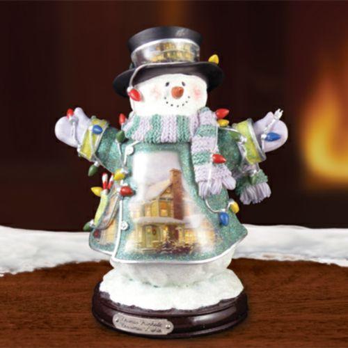 Stonehearth Hutch Snowman New Item 1513888019 COA Thomas Kinkade Figurine