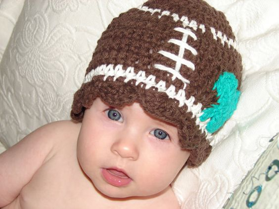 Notre Dame Fighting Irish football hat for girl or boy jenniferjudy, $21.00