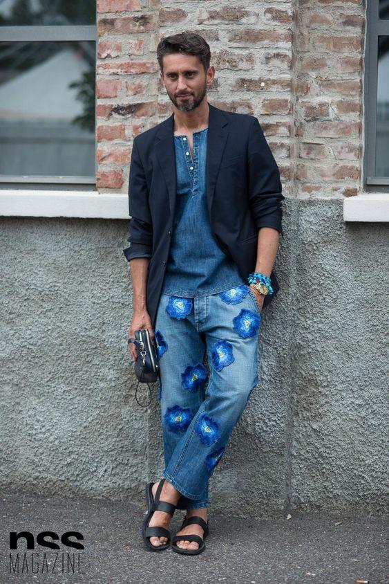 ジャケット&デニム海外メンズコーデSimone Marchetti - Streetstyle in Milan