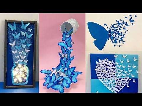 8 Easy And Awesome Room Decor Ideas With Paper Butterfly How To Make Paper Butterfly Youtube Paper Butterfly Paper Crafts Diy Diy Crafts For Teens