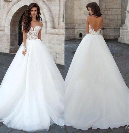 34 Trendy Vintage Wedding Dress Beaded Sleeve Ball Gowns Wedding Wedding Dresses Cheap Bridal Dresses