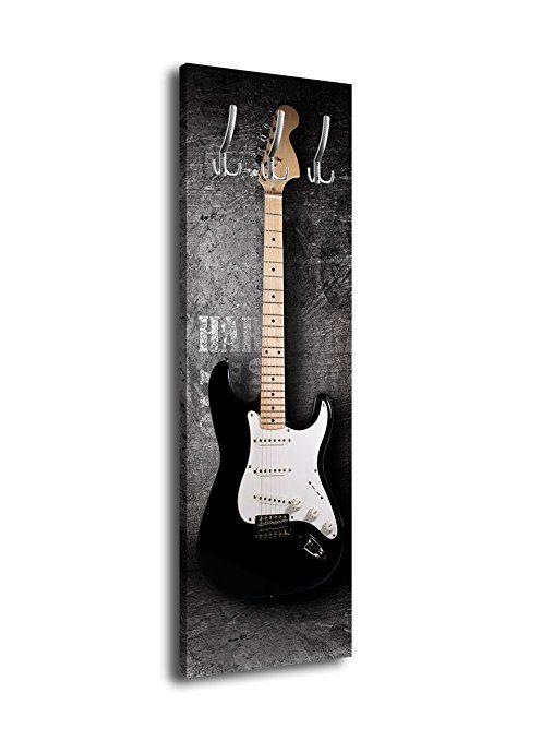 Garderobe Mit Design E Gitarre G353 40x125cm Wandgarderobe Rock