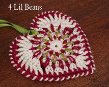 Crochet Pattern- Crochet Heart Ornament Pattern- Crochet Heart Decoration- Crochet Tutorial (Pattern 04) Digital Download