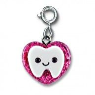 """The tooth fairy's favorite charm! Back Side Reads:  """"I Lost a Tooth"""" With a simple snap of a clasp, girls can personalize their CHARM IT! jewelry.  See Stylephyle for more fun CHARM ...:"""