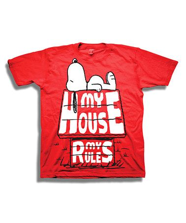 Love this Peanuts Red My House My Rules Tee Toddler Boys on