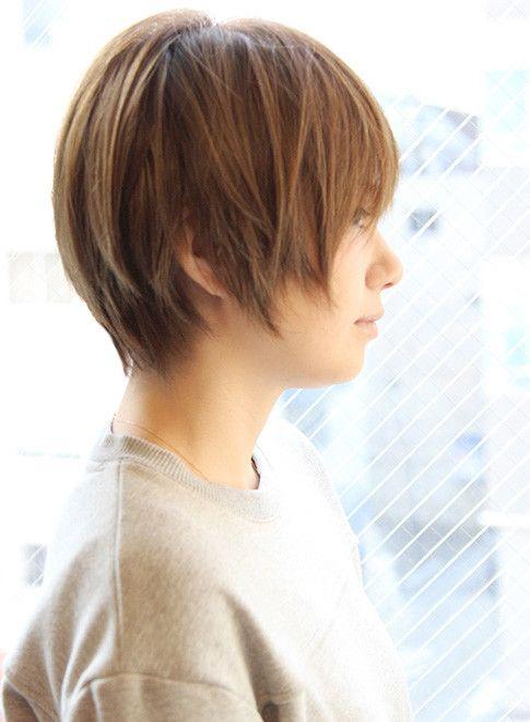 大人女子 田中美保さん風ショート 髪型ショートヘア 短い髪のため