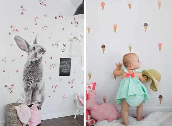Wall Decals in Kids Rooms - by Kids Interiors