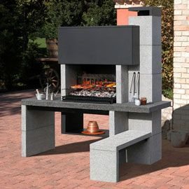 barbecue en pierres reconstitu es new jersey barbecue d. Black Bedroom Furniture Sets. Home Design Ideas