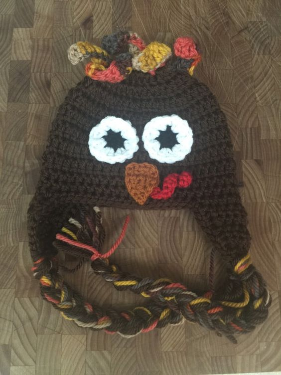 Turkey beanie MADE TO ORDER by SilentNightCreations on Etsy