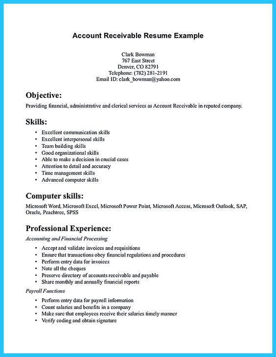 17 Best images about cover letter on Pinterest Resume tips - accounts receivable resume samples