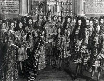 Wedding of Marie Adélaïde and Louis, Duc de Bourgogne in December 1694