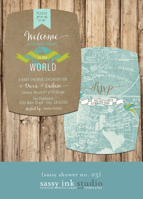 Welcome to the World Little One Customized Baby Shower Invitation - 5 x7 (baby shower no. 03) on Etsy, $20.00