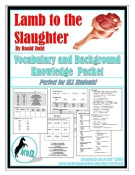 lamb to the slaughter essays Start writing remarkable essays with guidance from our expert lamb to the slaughter essay lamb to the slaughter 'lamb to the slaughter' is about a wife.