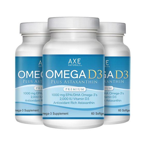 Omega-D3 Plus Astaxanthin 3-PACK