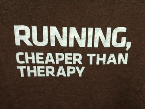 running, cheaper than therapy