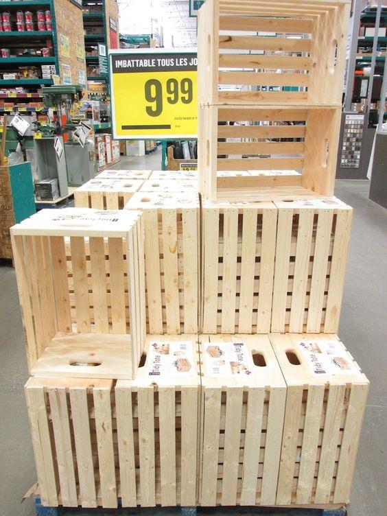 O trouver des caisses de bois pour sa d co maison home - Caisse en bois pour rangement ...