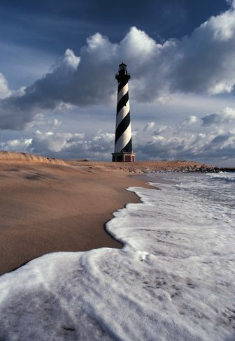 "This lighthouse guards the ""Graveyard of the Atlantic""!:"