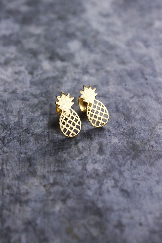Pineapple Stud Earrings: