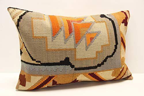 16x24 inches pillow old rug pillow brown pillow throw pillow lumbar pillow vintage pillow sofa pillow boho pillow  Turkish handmade pillow