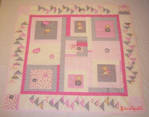 Couverture / Plaid en patchwork personnalisable 126 x 114 : Puériculture par abracadapatch