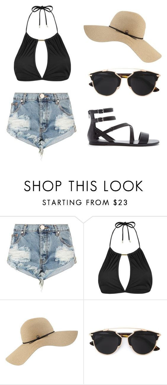 Beachin' it by megxmeg on Polyvore featuring Topshop, One Teaspoon, Forever 21, Coal and Christian Dior